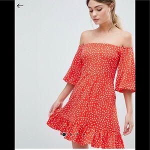 ASOS design off shoulder dress